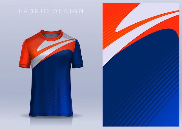 Tissu textile pour tshirt sport maillot de foot. vue de face uniforme de club de football