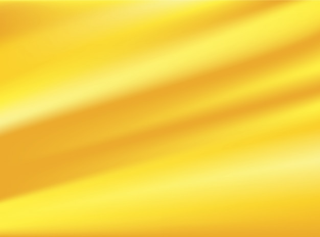 Tissu en tissu or satiné isolé sur fond de conception concept