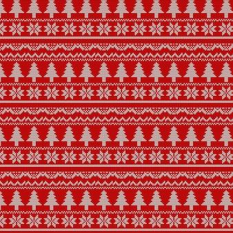 Tissu tricot motif noël sans couture illustration vectorielle moderne avec un design différent.