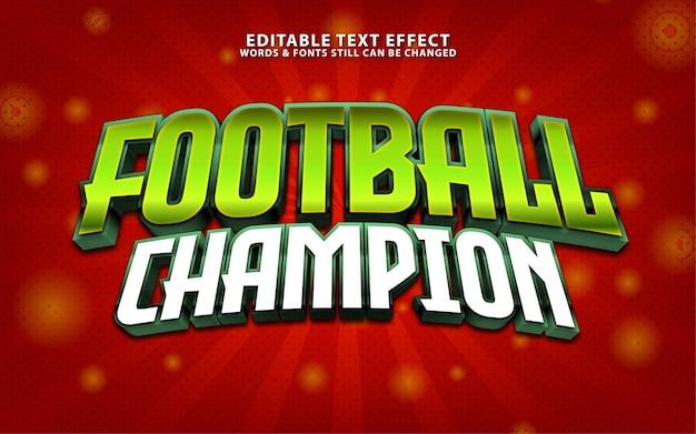 Titre de champion de football texf