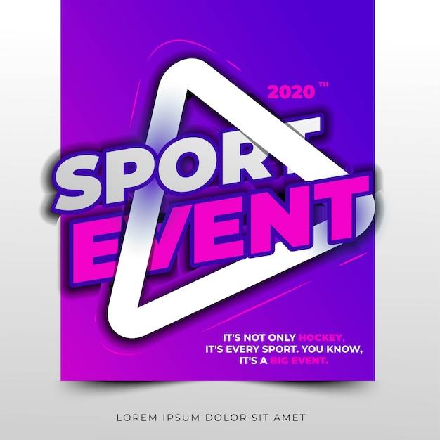 Titre typographique de l'événement sportif, mise en page simple et propre