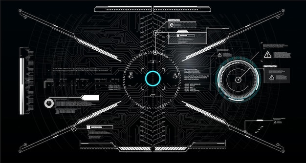 Titres et cadre des légendes dans le style sci-fi. étiquettes de barre, barres de boîte d'appel d'informations. modèles de disposition de boîtes d'informations futuristes.