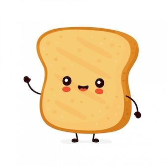 Toast drôle heureux mignon.