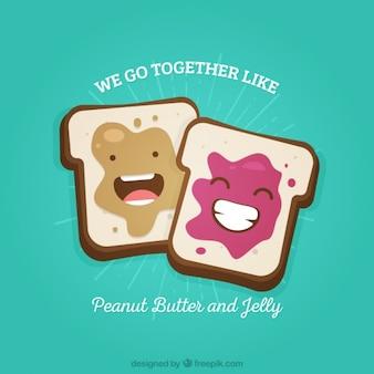 Toasts enjoyable de la journée de l'amitié