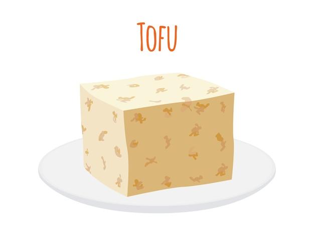 Tofu sur une assiette