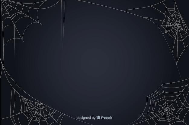 Toile d'araignée fond halloween