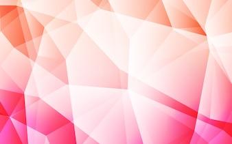 Toile de fond de mosaïque abstraite vecteur rose clair.