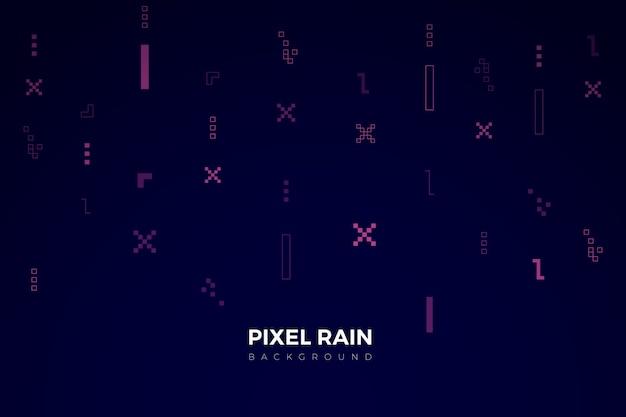 Toile de fond abstrait pixel pluie