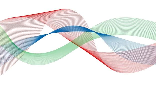 Toile de fond abstraite avec des lignes de dégradé de vagues colorées sur fond blanc. contexte de la technologie moderne, conception des vagues. illustration vectorielle