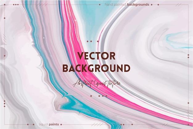 Toile de fond abstraite à texture d'art fluide avec effet de peinture tourbillonnante illustration acrylique liquide avec des flux et des éclaboussures de peintures mélangées pour affiche intérieure lavande bleu et rose débordant de couleurs