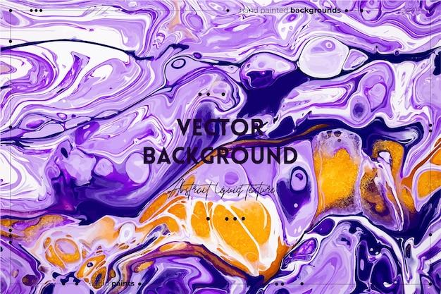 Toile de fond abstraite de texture d'art fluide avec une image acrylique liquide à effet de peinture tourbillonnante avec des flux et...