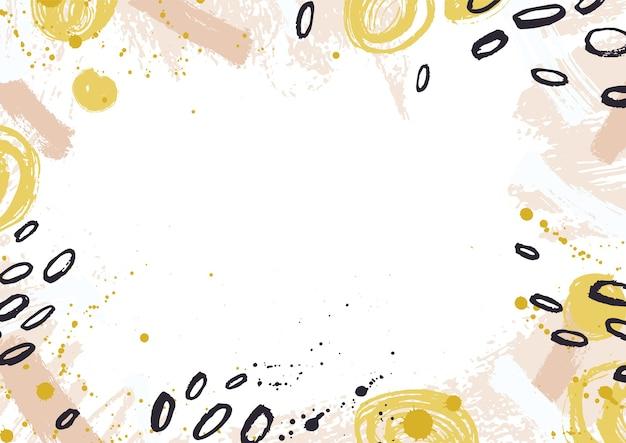 Toile de fond horizontale décorée de traces de peinture colorées