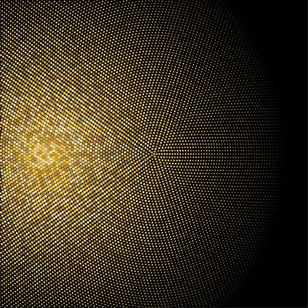 Toile de fond en pointillé demi-teinte paillettes dorées. motif rétro or