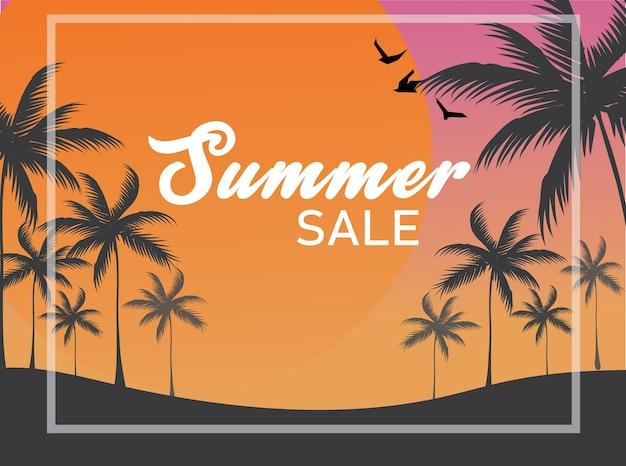 Toile de fond de vente d'été