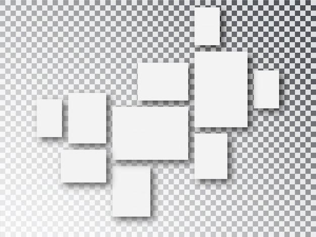 Toile de papier blanc vierge ou cadres photo