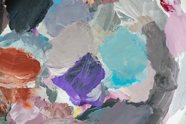 Toile peinte de couleurs