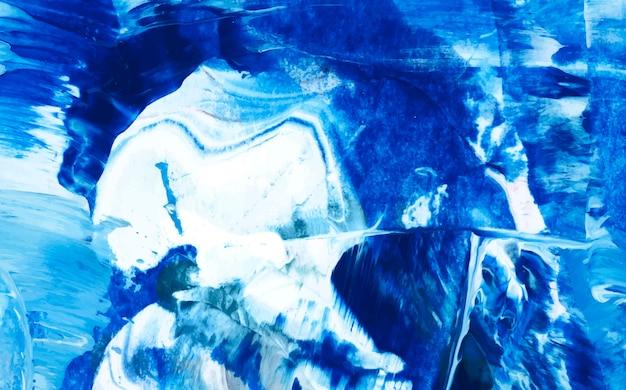 Toile peinte indigo