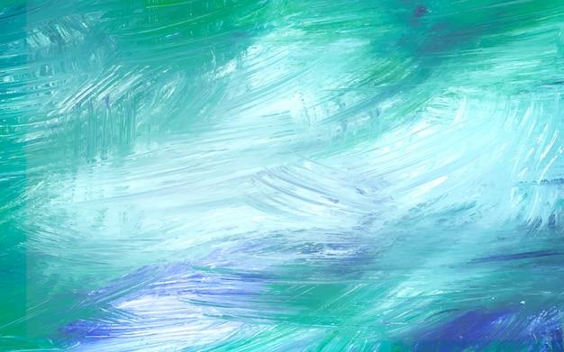 Toile peinte en vert