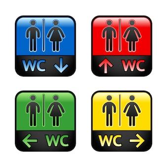 Toilettes - autocollants colorés