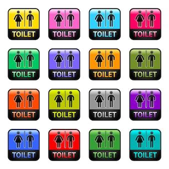 Toilettes - définir les symboles de couleur