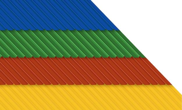 Toit avec couverture en tôle ondulée bâtiment industriel. conception d'illustration vectorielle.