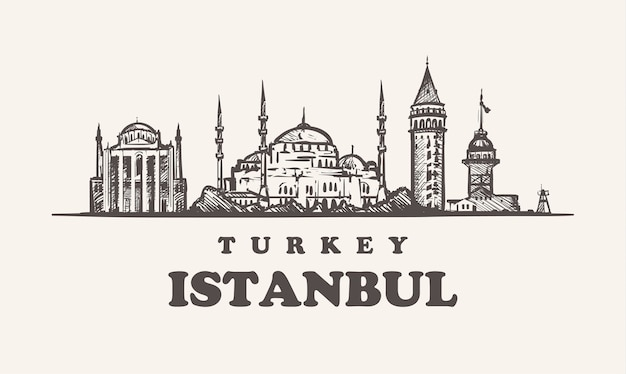 Toits d'istanbul, turquie