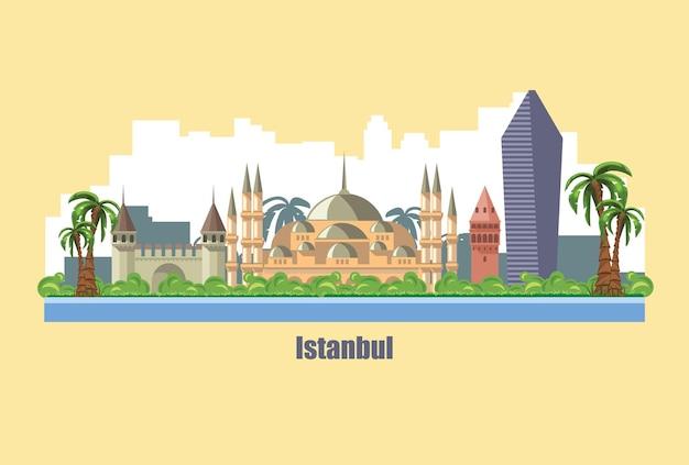 Toits de la ville d'istanbul l'une des plus anciennes villes d'europe