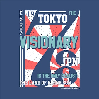 Tokyo japon visionnaire mode graphique typographie vector illustration t shirt print