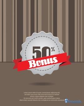 Tôle bonus de 50% de réduction
