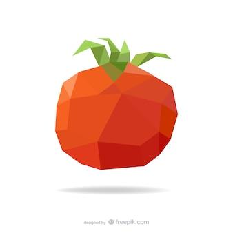 Tomate géométrique vecteur de logo