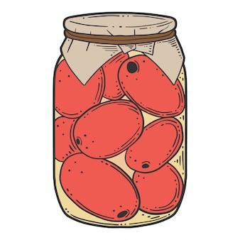 Tomates en conserve conserver.
