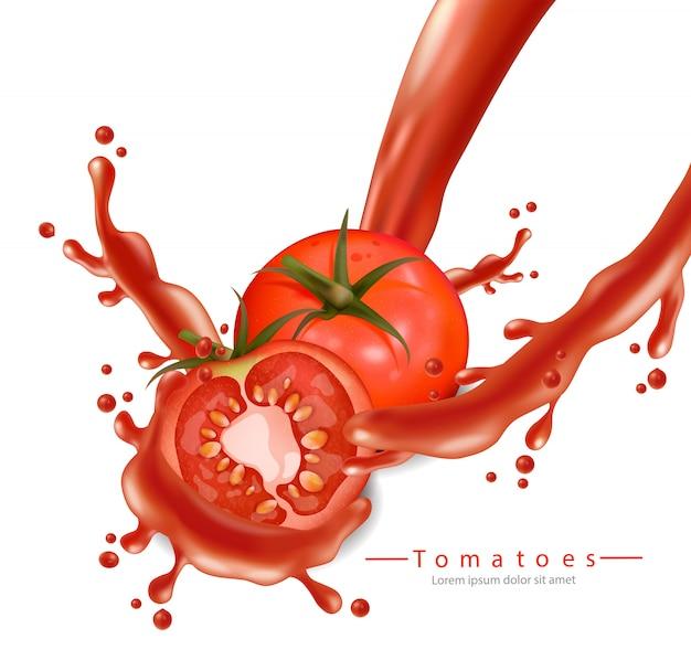 Tomates avec éclaboussures