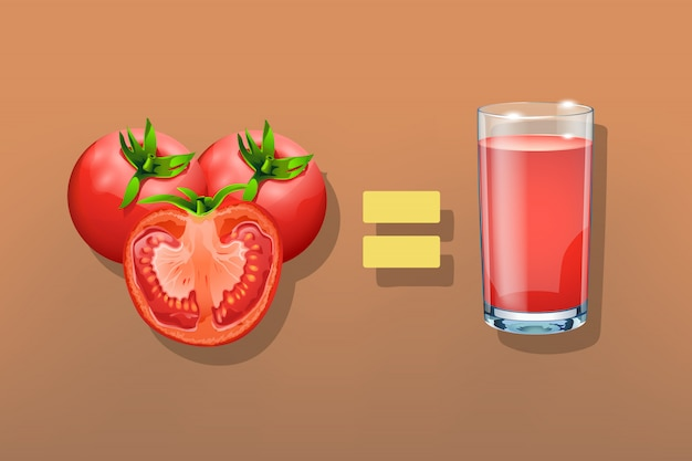 Tomates avec verre