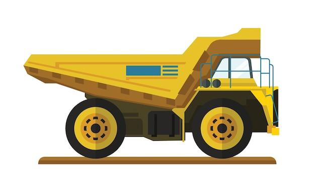 Tombereau à benne basculante pour site minier