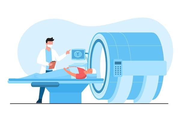 Tomographie par imagerie par résonance magnétique (irm).