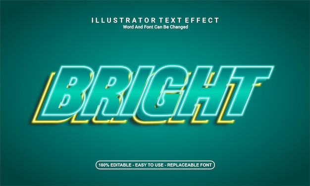 Tonnerre de conception d'effet de texte moderne