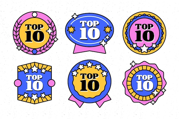Top 10 des badges