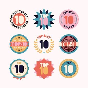 Top 10 des badges