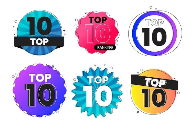 Top 10 des collections d'étiquettes