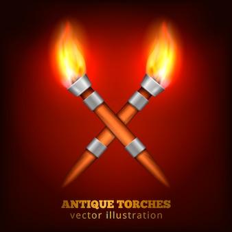 Torches antiques réalistes