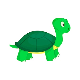 Tortue animal océan vert nature faune mer reptile sous-marin caractère illustration vectorielle. tortue aquatique de dessin animé de tortue marine.