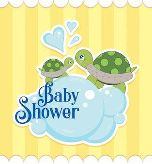 Tortues de douche de bébé