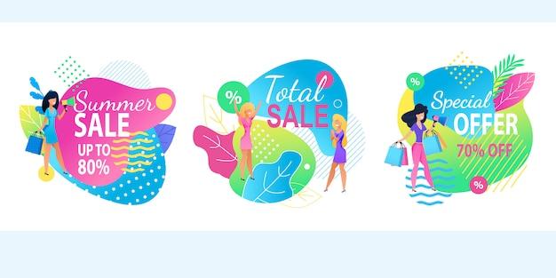 Total summer sale offre spéciale bannière ensemble