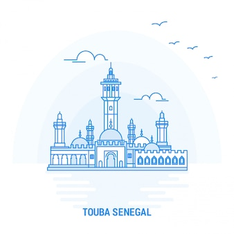 Touba senegal blue landmark