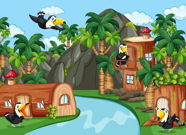 Toucan dans la maison de la nature