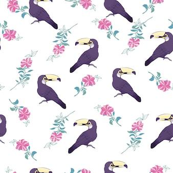 Toucan modèle sans couture