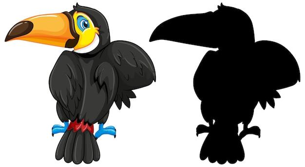 Toucan avec sa silhouette