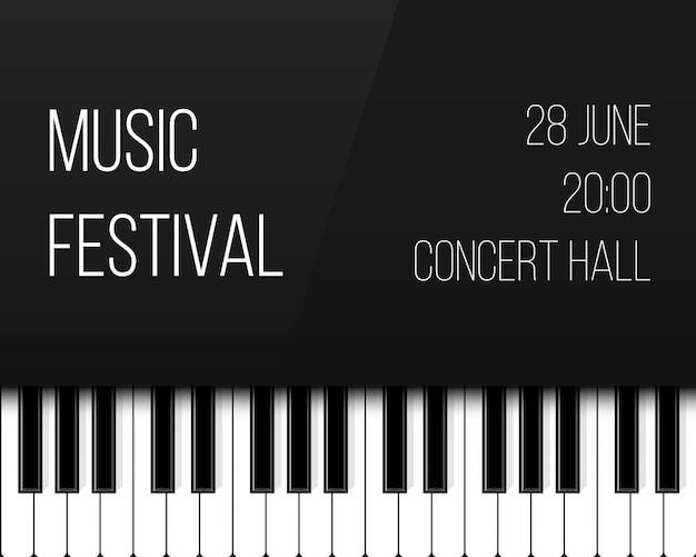 Touches du piano. fond de musique de concert live jazz.