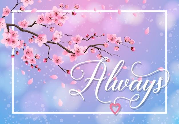 Toujours lettrage avec sakura