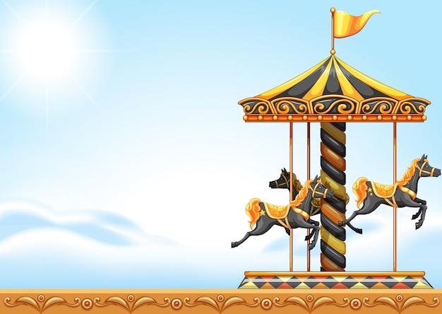 Un tour en carrousel